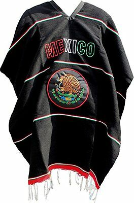 Mexico Great Seal Poncho Mexican Serape Adult Size