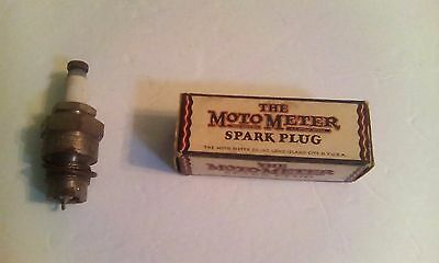 Vintage Motometer 3-A Spark Plug NOS with box and washer 7/8""