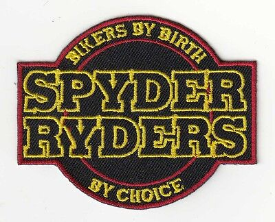 """Bikers By Birth Spyder Ryder By Choice"" CanAm Spyder Patch F3 RS RT ST"