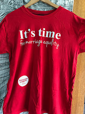 It's Time for Marriage Equality, ALP Labor T-Shirt LGBTIQA Campaign