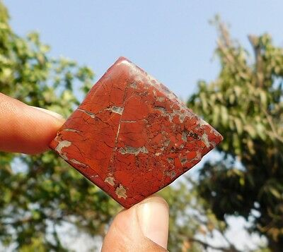 92.9 Cts Aaa Quality 100% Natural Blood Stone 37X34X5Mm Slice Loose Cabochon