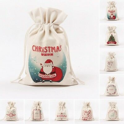 Christmas Gift Bag Sack Drawstring Bags Candy Present Stocking Holder Pouch Gift