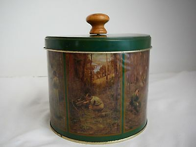 """Decorative Biscuit tin Frederick McCubbin Painting """"The Pioneer"""" Collectable"""