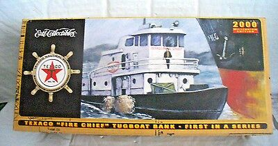 """Texaco """"fire Chief"""" Die Cast Tugboat Model/ Bank..1St In Series....new"""