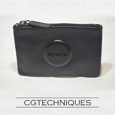 Mimco Matte Black Small Pouch Wallet Cow Leather Rrp $69.95