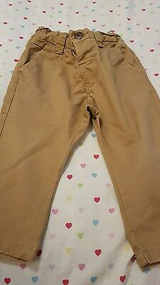 lovely boys next brown fashion pants age 9-12 months