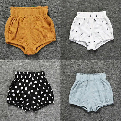 Summer Baby Girls Boys Shorts Kids Casual Linen Toddler Cotton Shorts Pants 0-4Y