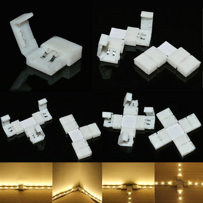 NEW 2Pin PCB Corner Connector For Single Color 3528 5050 5630 Led Strip Lights