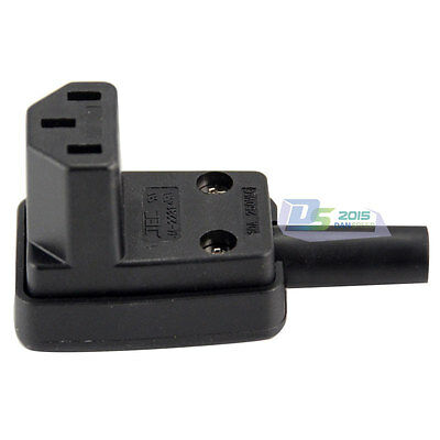 250V IEC-C13 Down Angle Socket Receptacle Rewirable Female Adapter Plug Outlet