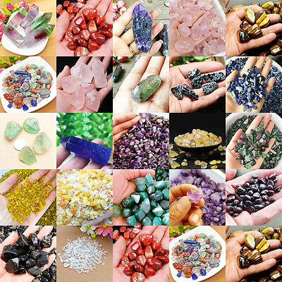 50g Natural Quartz Crystal Stone Rock Chips Energy Gravel Lucky Healing Polished