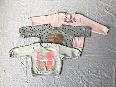 Cotton On Baby Girl Fleece Jumper 3 Pack