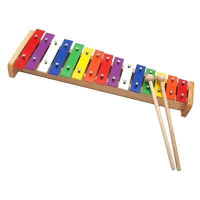 15 Note Colorful Xylophone Piano Toys w/ 2 Mallets C Key for Toddler Kids