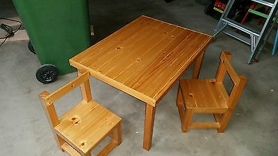 Handmade Children's pine table and chairs