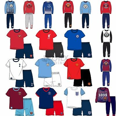 Kids Football Pyjamas Girls Boys Childrens Pyjama Set Age 1-12 Years