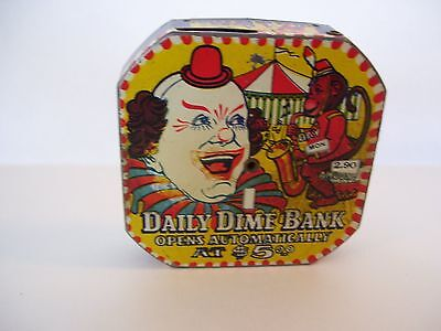 Metal Clown Dime Bank