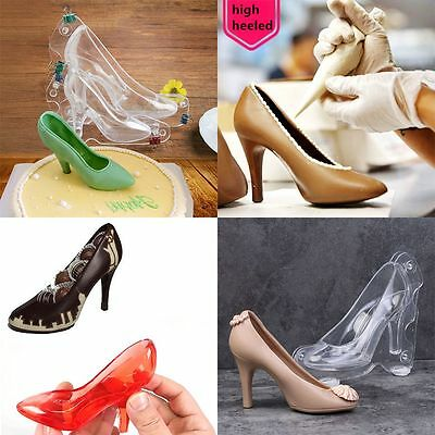 DIY 3D High Heel Shoe Mold Chocolate Mold Candy Ice Mould Cake Decor Baking Tool