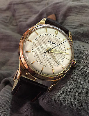 Rare VOLNA Boctok 2809A 60's vintage soviet russian mechanical watch, Zenith 135