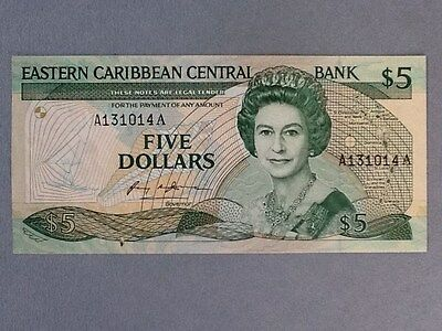 East Caribbean States 5 Dollars P-18-A  UNC