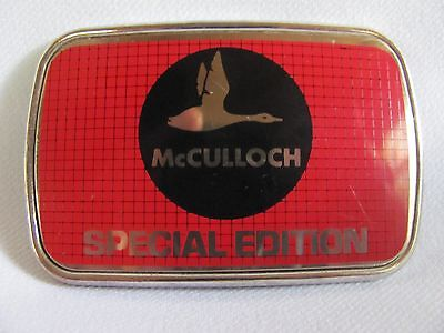 Vtg Mcculloch Chainsaw Special Edition Belt Buckle