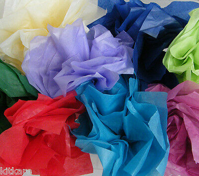 10 Sheets of Tissue in 10 Colours Slight Seconds 10p start - MORE IN STORE