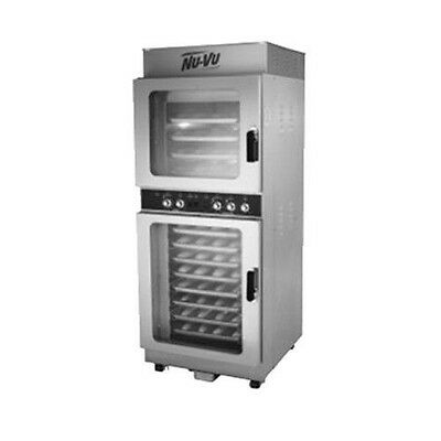 Nu-Vu OP-4/8M Electric V-Air Oven and Proofer with Solid State Manual Controls