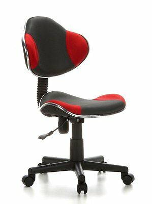 hjh OFFICE,  Childrens Desk Chair Swivel Chair, computer chair Red/ Grey