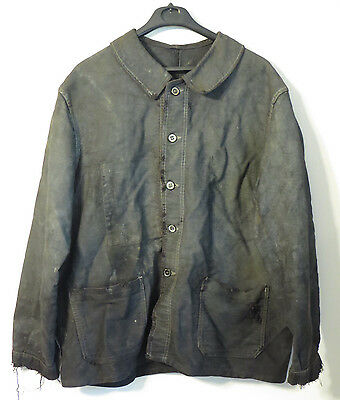 Vintage French Black Work Jacket Chore Workwear Movie Worn Lost City Of Z