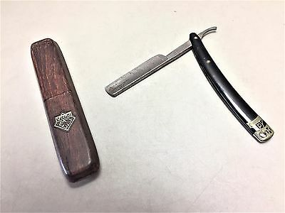 Straight Razor Blackie C-Mon Carl Monkhouse in original Holzetui Solingen /R9/11