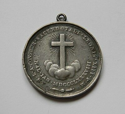VATICAN: Silbermedaillle on POPE LEO (XIII) 1888, by Pianchi, RARE