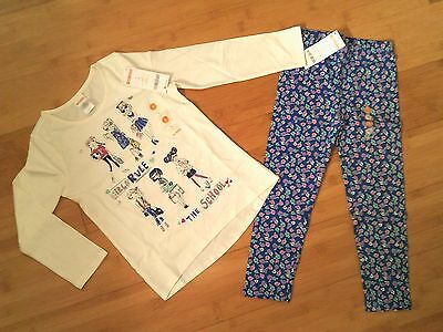 NWT Gymboree Girls Size 8 Rule The School Outfit - LS Tee Top & Leggings NEW