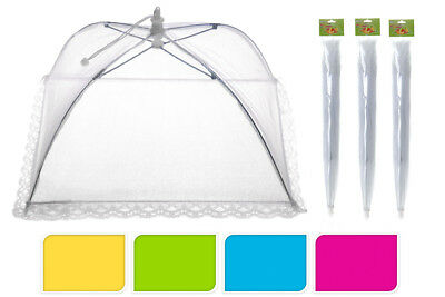 Large Collapsible Food Cover Pop Up Mesh Fly Wasp Net Party Kitchen Food Cover