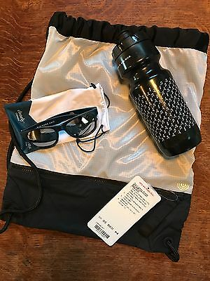 Lululemon SeaWheeze 2017 Gear - Go Lightly Cinch Bag, Sports Bottle, Sunglasses