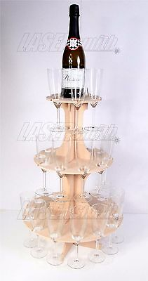 Champagne Flute Tower for Weddings, Birthdays, Christmas Party Celebration Stand
