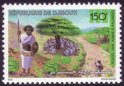 Djibouti Dschibuti 1995 People Meeting under Tree, MNH, Sc 745, Mi 615, CV €75
