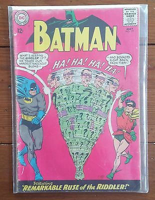 BATMAN 171, MAY 1965, DC COMICS, 1st RIDDLER, SILVER AGE, GD
