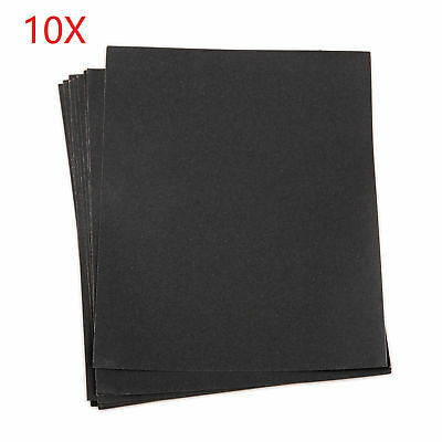 10Pcs 9'' x 11'' Wet and Dry Sandpaper Combo 280-2000 Grit Sanding Sand Paper
