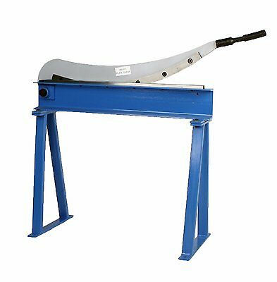 """Erie Tools® Guillotine Shear 32"""" x 16 Gauge Sheet Metal Plate Cutter with Stand"""