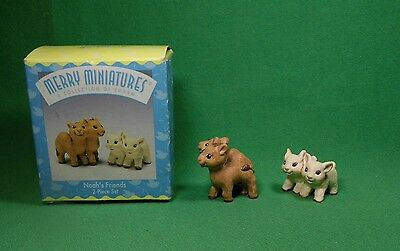 Hallmark 1997 Merry Miniatures Noah's Friends Camel & Lamb 08572