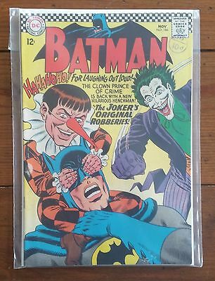 Batman 186, November 1966, Dc Comics, Silver Age, Fn+