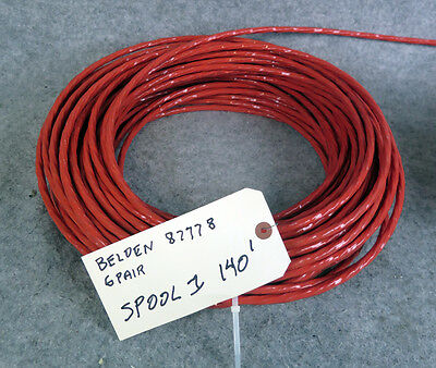 140 ft Belden 87778 12 Conductor Cable 22 AWG 22/12 6 Twisted Pairs 300V 140 ...