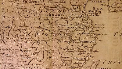Rare C. 1770 Antique China Map 18th century map with Peking Taiwan Formosa