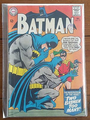 Batman 177, December 1965, Dc Comics, Silver Age, Fn