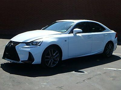 2017 Lexus IS200t 200T 2017 Lexus IS200t Sedan Damaged Salvage Only 1K Mi Loaded w Options Red Interior