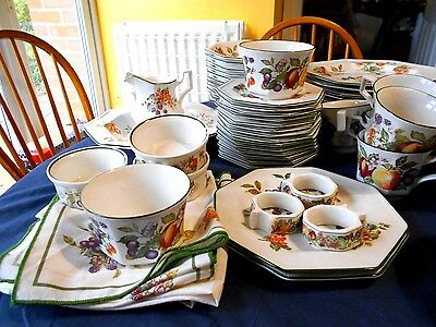 Johnson brothers Fresh Fruit- sets of dinner, salad side plates, cups and saucer