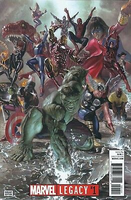 Marvel Legacy 1 Alex Ross 1:50 Variant Thor Spiderman Avengers Wolverine Nm