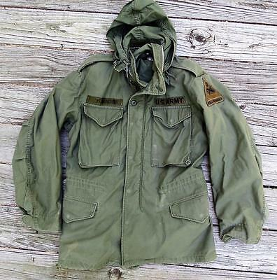 M-65 Field Jacket w/ hood, 2nd Armored Division patch. Nice condition! small reg