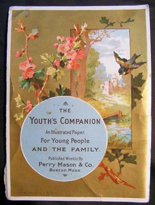 Nice Advertising Card For The Youth's Companion Magazine Boston Mass.