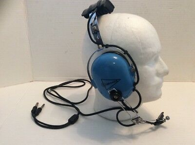 SIGTRONICS MODEL S-40 VINTAGE PILOTS HEADSET HEADPHONES WITH MIC AVIATION Works
