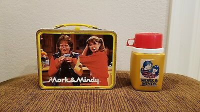 Vintage Mork & Mindy Metal Lunch Box With Thermos Rare 1979 King-Seeley