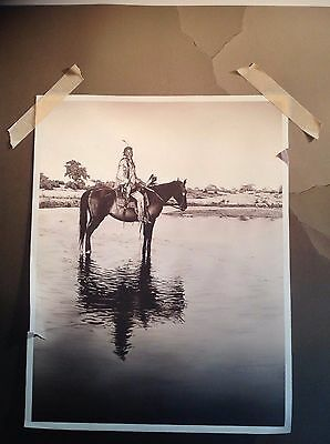 OTTO DUECKER: SIGNED & NUMBERED LONE CHIEF CHEYENNE 23X28 Print